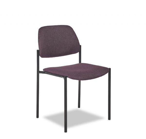 Bezoekersstoel Lean 5552 zit en rug gestoffeerd zeer goede en goedkope vergaderstoel (1)