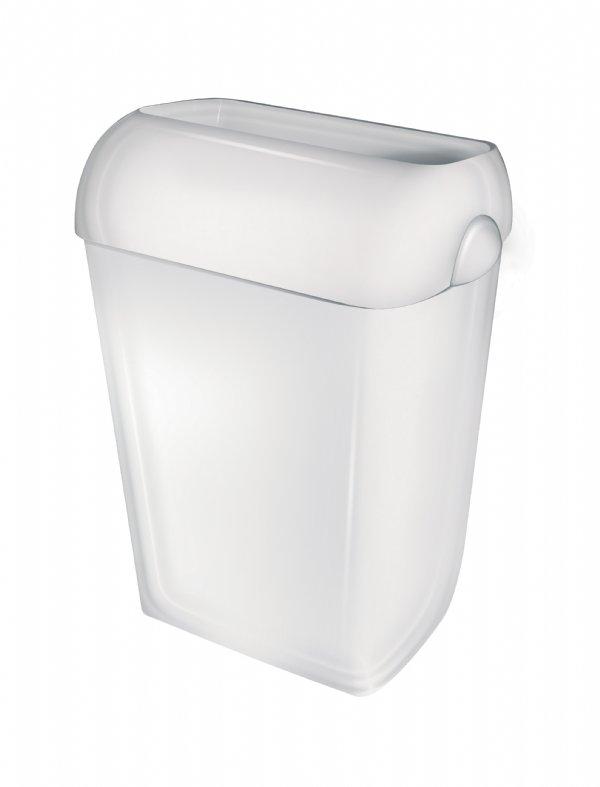 Goedkope afvalbak 23 liter kunststof wit  open model PlastiQline PQA23 (1)