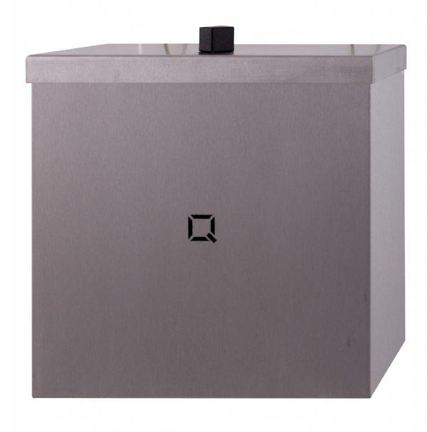 Gesloten afvalbak 9 liter RVS staal Qbic-line QWBC9SSL/ strak design en robuuste kwaliteit (1)