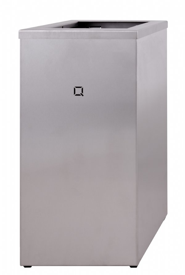 Grote afvalbak RVS 85 liter Qbi-line QWBO85SSL openmodel (1)