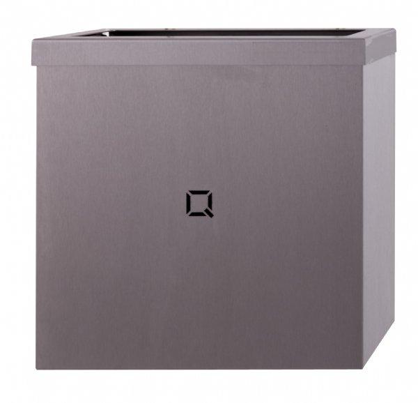RVS afvalbak Qbicline 9 liter open model QWBO9SSL voor toilet of natte ruimten (1)