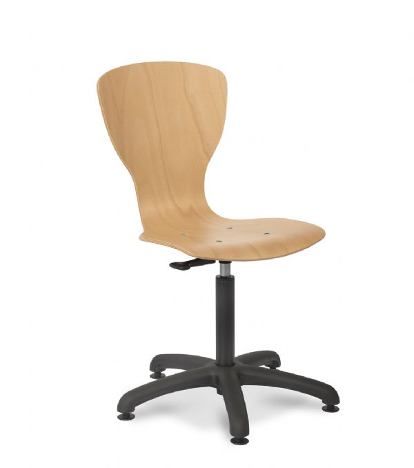 Werkstoel of onderwijsstoel Flex 7871 met multiplex kuip (1)