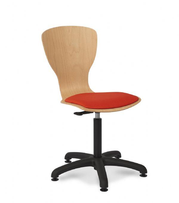 Werkstoel FLEX 7872 multiplex kuip en gestoffeerde zitting (1)