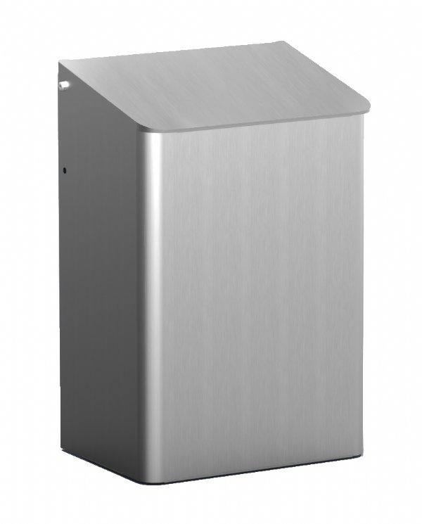Afvalbak MediQo-line 6 liter aluminum MQWB6A waar hygiëne op hoog niveau gewenst is (1)