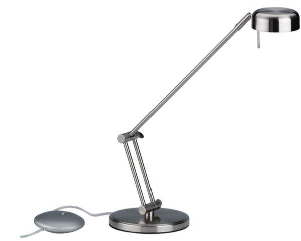 Maul bureaulamp halogeen maulpool 8228095 in geborsteld edelstaal (1)