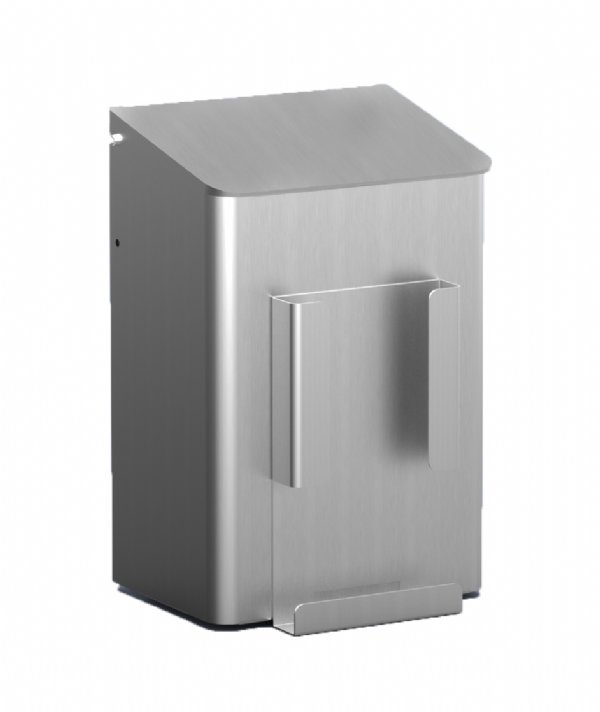 Hygiëne afvalbak MediQoline 6 liter aluminium MQWB6HBHA  voor sanitiare ruimte en toilet groepen (1)