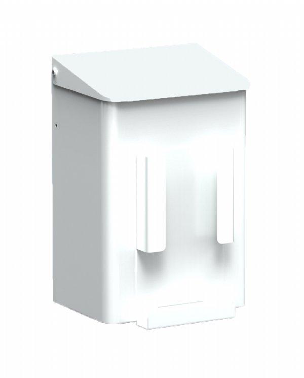 Hygiëne afvalbak 6 liter wit MediQo-line met zakjes houder MQWB6HBHP voor toilet of sanitaire plaats (1)