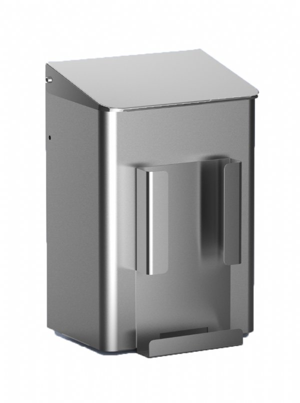 Hygiënebak 6 liter RVS  met zakjes houder MediQo-line MQWB6HBHE voor elke toilet ruimten of sanitaire omgeving (1)