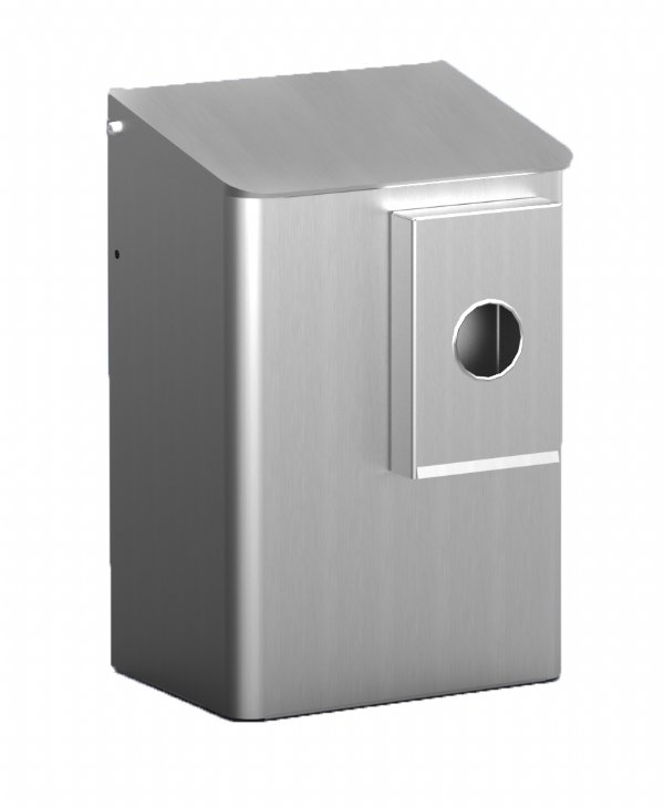 Sanitaire hygiënebak 6 liter Aluminium MediQoline MQWB6HBKA voor diverse toiletruimten (1)