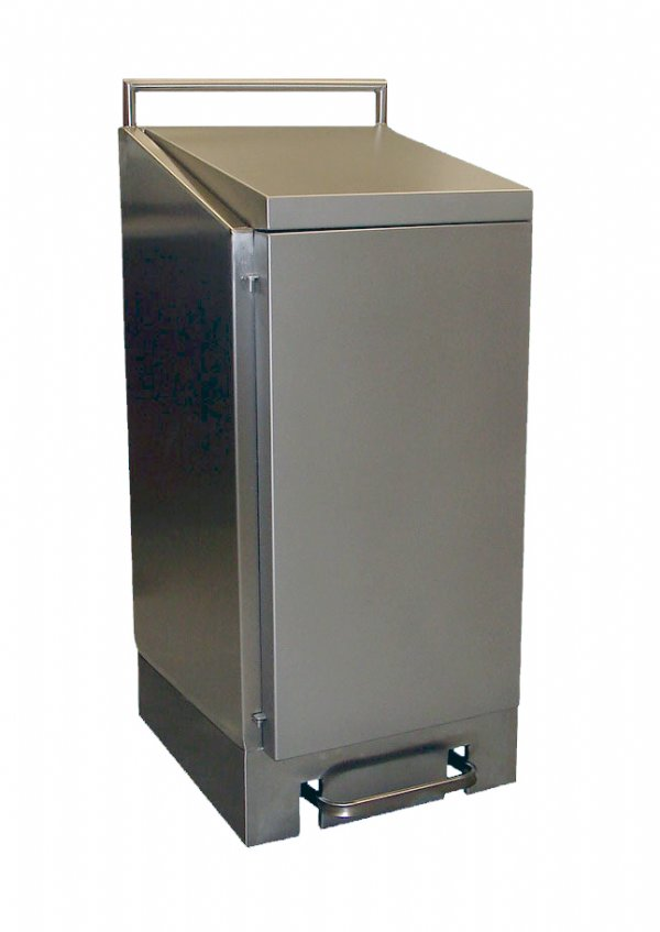 Afvalzakhouder RVS 120 liter Dutch Bins met voetbediening voor keuken en horeca gebruik (1)