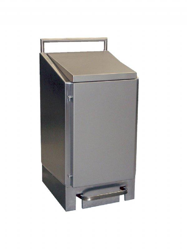 Grote afvalbak RVS 60 liter professioneel Dutch Bins AVZH60E (1)