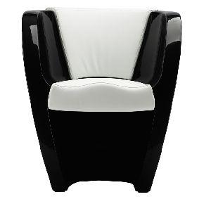 Arte's cup hoogglans zwart/wit leder