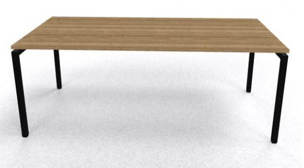 Bureau 200x100cm Arca 4-poot keuze uit diverse pootkleuren en bladkleuren (1)