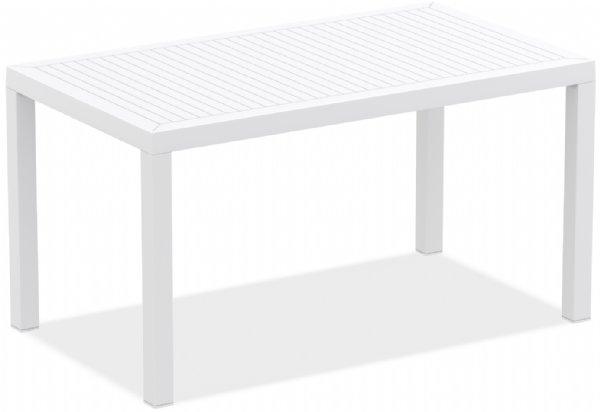 Kantine tafel  kunststof 140x80cm Ares wit kopen? Leverbaar in 6 kleuren voor binnen en buiten gebruik (1)