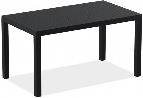 Terrastafel 140x80cm Ares zwart Siesta voor horeca, restaurant, eetcafe en kantine (1)