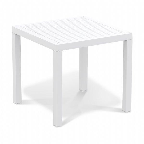 Tuintafel 80x80cm Ares wit merk Siesta voor buiten en binnen toepassing (1)
