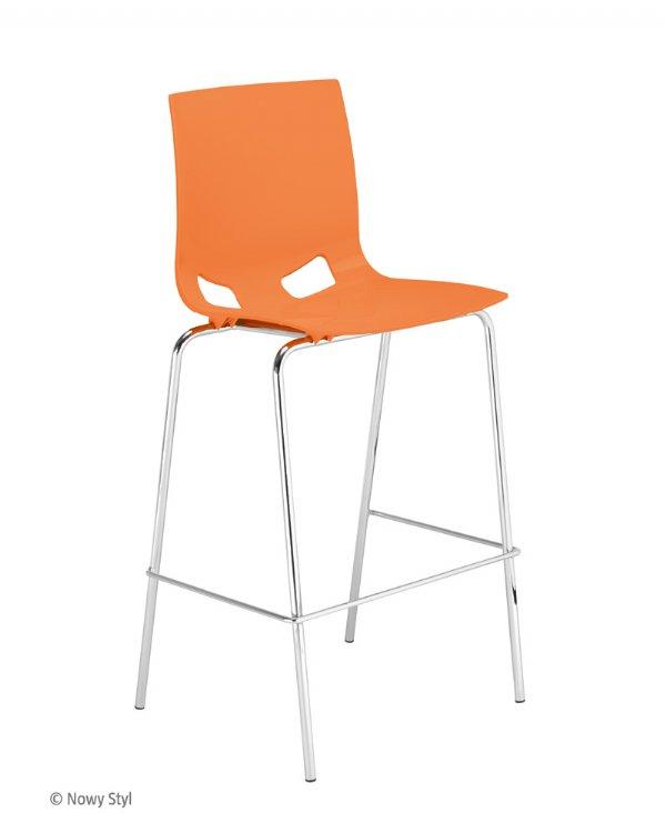 Barkruk Fondo kunststof oranje nowy styl