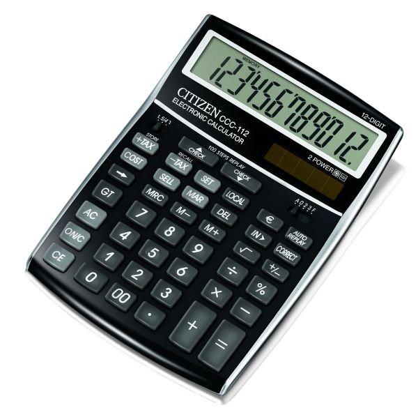 Citizen bureau rekenmachine cost manager, zwart CCC112BK (1)
