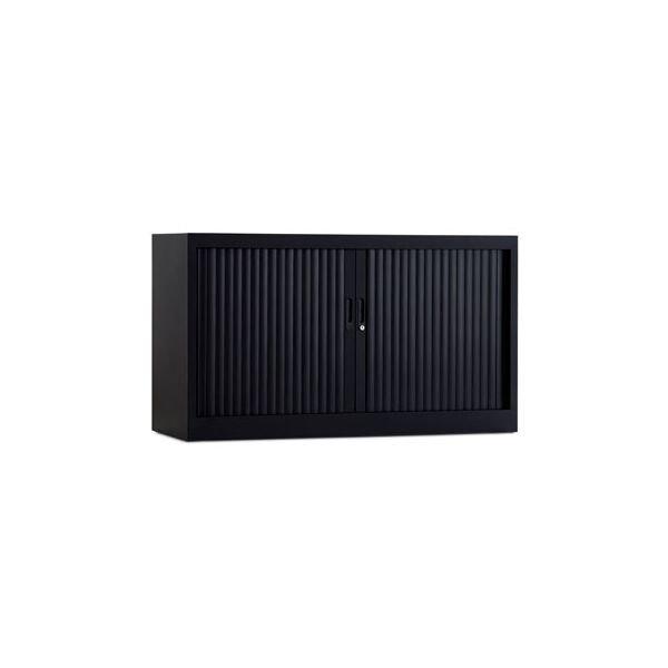 Roldeurkast 70x120cm ral 9005 zwart chs 70-120