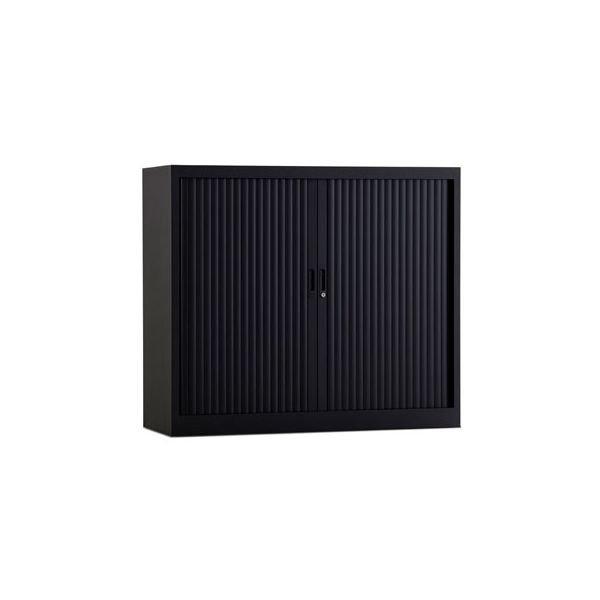 Roldeurkast 105x120cm ral 9005 zwart chs 105-120