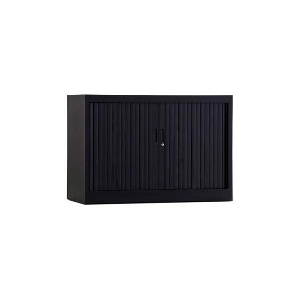 Roldeurkast 70x100cm ral 9005 zwart chs 70-100