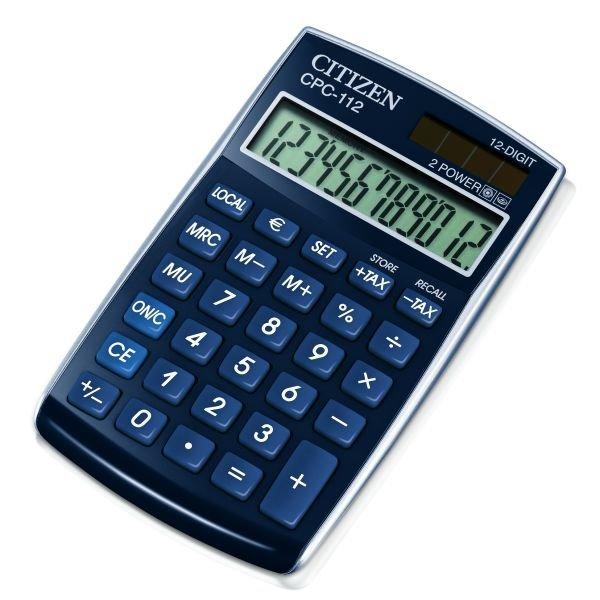 Citizen zakrekenmachine basic+, blauw CPC112BL (1)