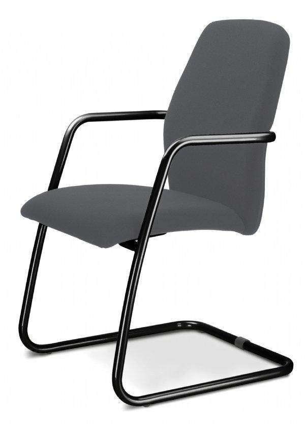 Slede conferentiestoel UNI high back met armleggers een comfortabele zitting en aantrekkelijke prijs (1)
