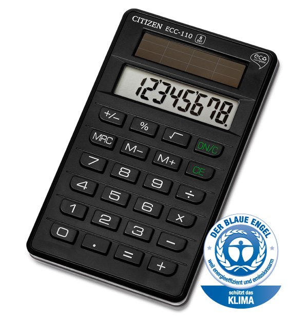 Citizen eco pocket calculator ECC110 (1)