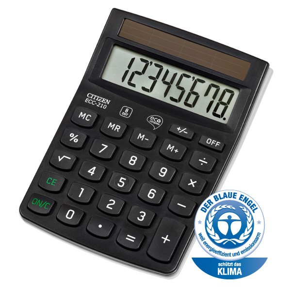 Citizen eco bureau calculator ECC210 (1)