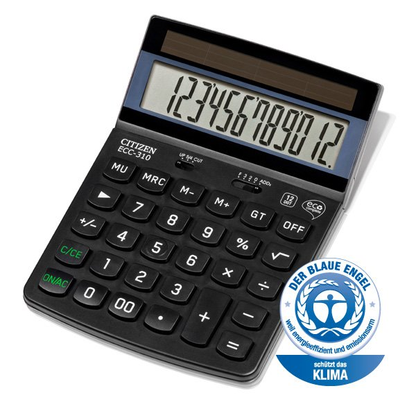 Citizen eco bureau calculator ECC310 (1)