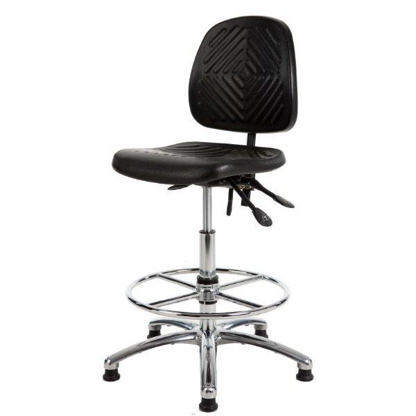 Zeer comfortabel loketstoel GMS267 met voetenring verchroomd | voldoet aan extra eisen (1)
