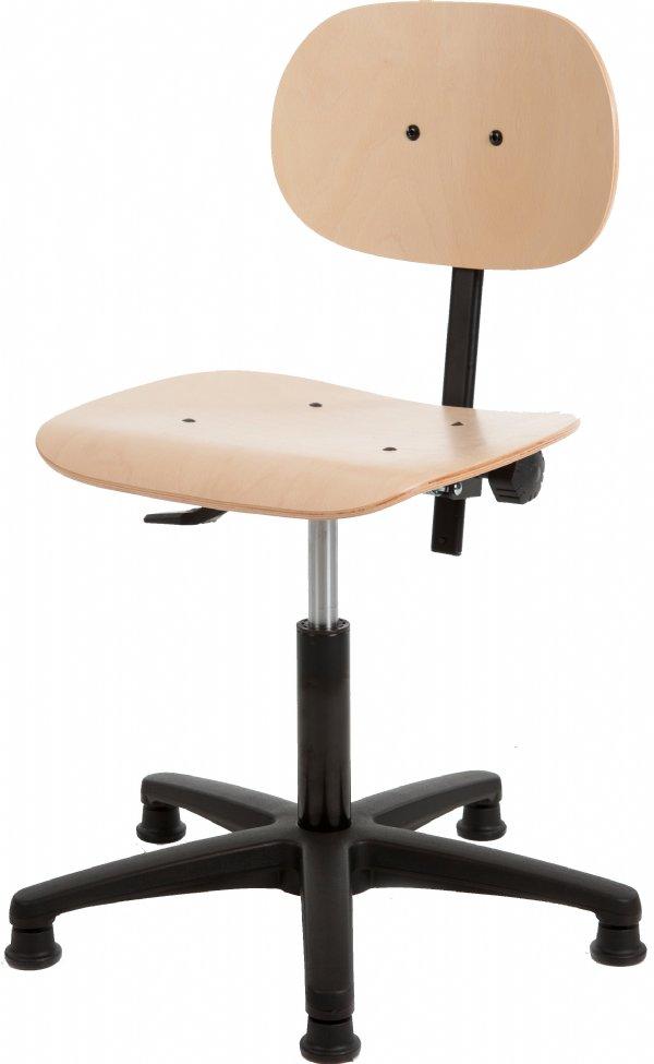 Beuken onderwijsstoel H160 in hoogte verstelbaar | degelijk en scherpe prijs (1)