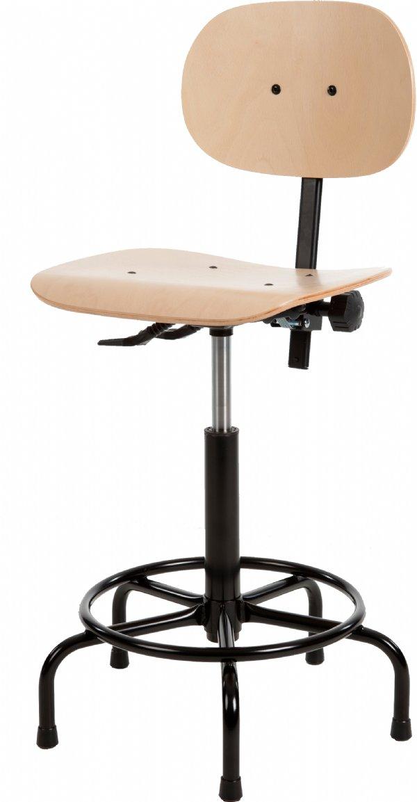 Productiestoel budget Line H200 met beuken zit en rug | eenvoudige maar robuuste werkstoel (1)
