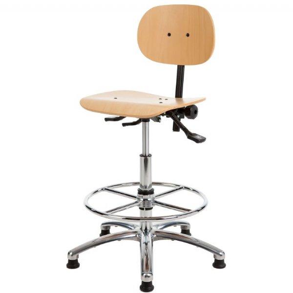 Zeer goedkope Baliestoel of werkstoel HL267 met beuken zit en rug (1)