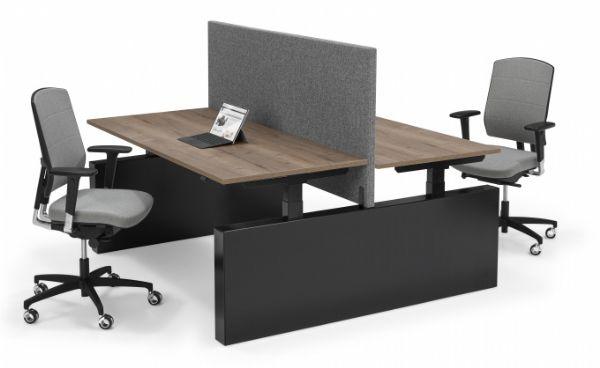 Flex 3 wangen zit-sta bureau bench elektrisch duo werkplek (1)