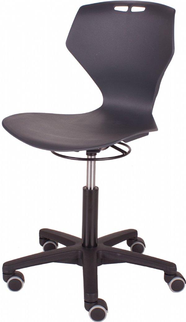 Leerlingstoel KK160 voor het onderwijs verrijdbaar en in hoogte verstelbaar | snelle levertijden en scherpe prijzen (1)
