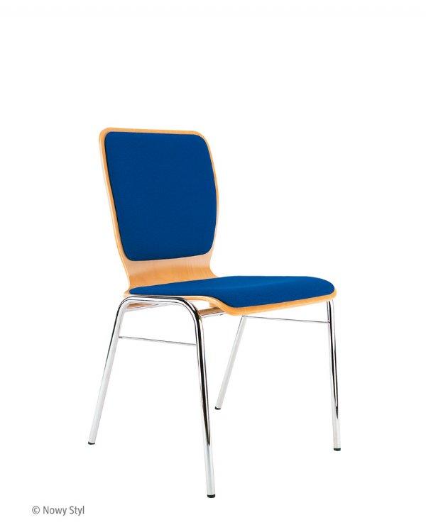 Kantine stoel WING II gestoffeerde zit en rug