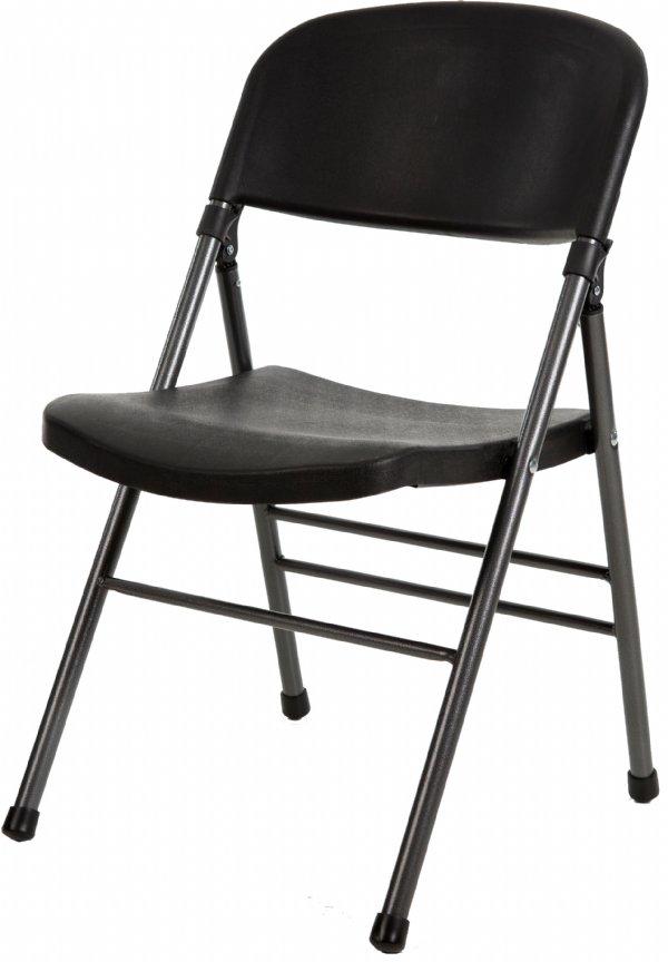 Goedkope klapstoel zwart basic | goede kwaliteit en scherpe prijs (1)