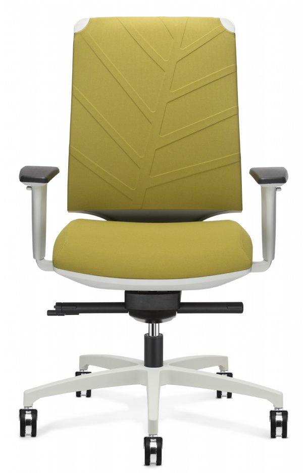 Bureaustoel Be-Leaf voor 98% recyclebaar met 75mm dik zitvlak en holle ventilerende rug (1)