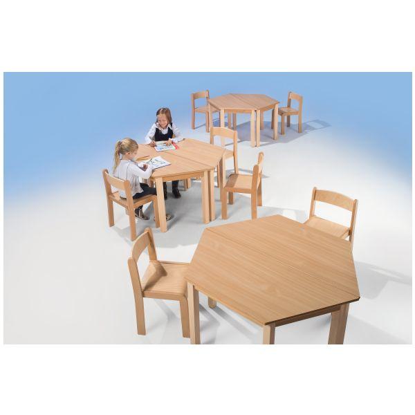 houtentafel trapezium