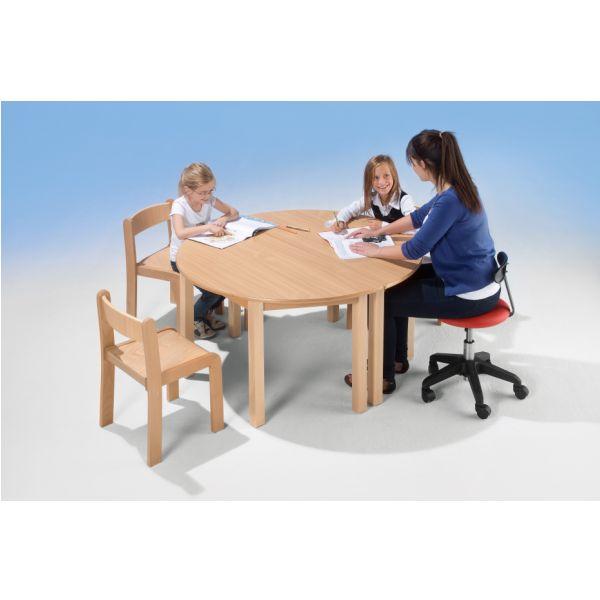 houtentafel halfrond