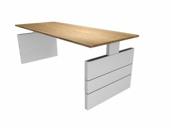 Groot bureau Nova 200x80cm met wangen onderstel | stijlvol en top kwaliteit voor u kantoorinrichting (1)