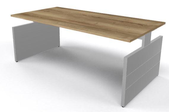 Werkplek of vergadertafel Nova 200x100cm met wangen onderstel (1)