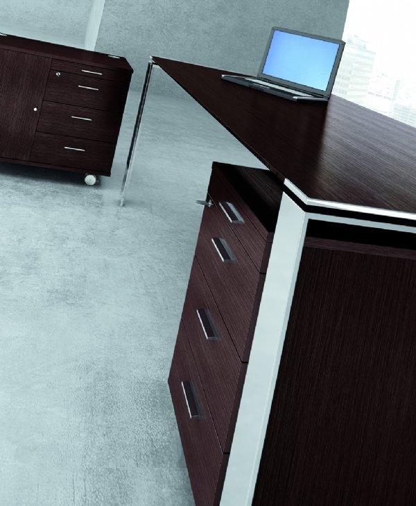 Officity X7 directie bureau 200x100cm 4 poot, model Open in diverse uitvoeringen (1)