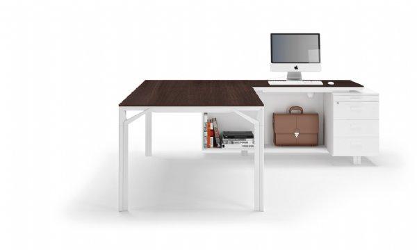 Manager bureau Officity X8 hoekopstelling met aanbouw ladenblok op en top design (1)