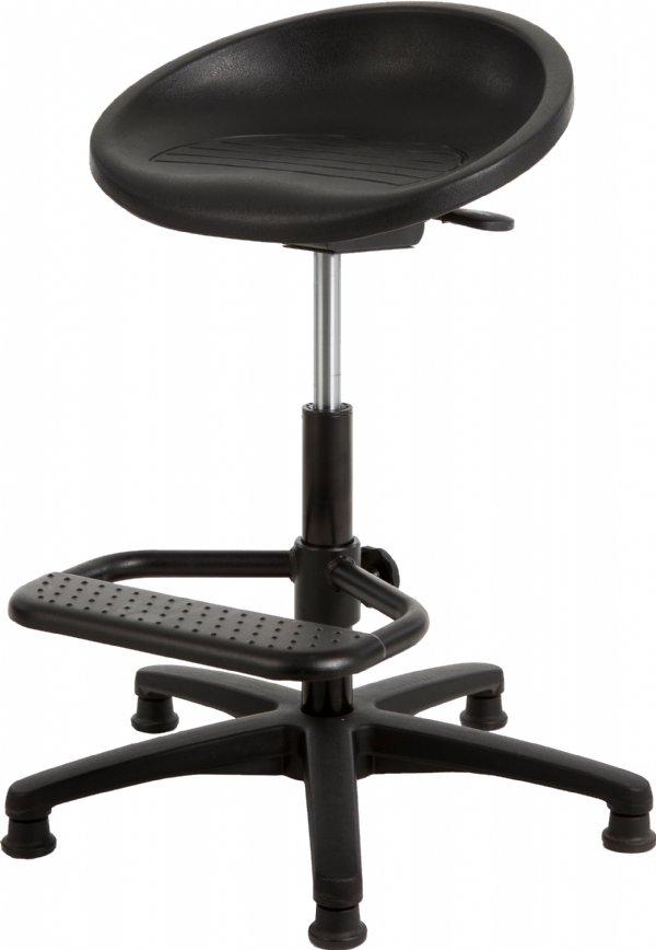 Stahulp P3 267 met ronde zitschaal PUR zwart en voetensteun | leverbaar in o.a. Veenendaal, Ede, Wageningen, Barneveld en Rhenen (1)