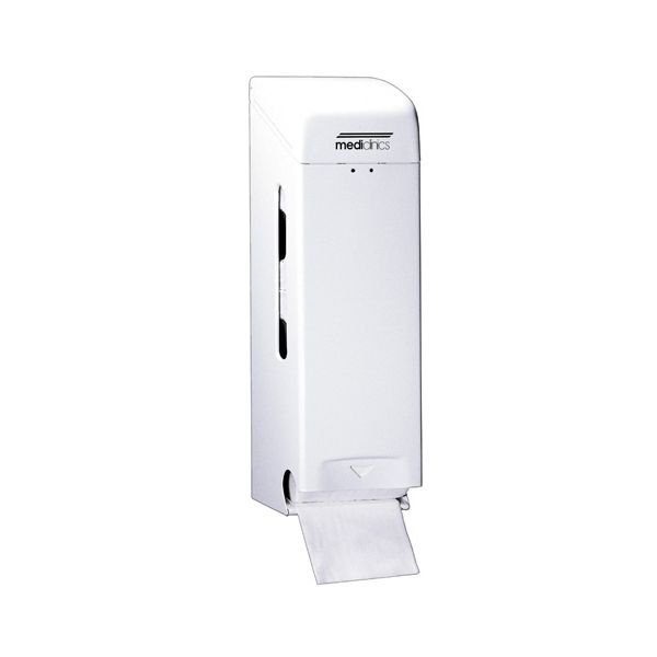 Toiletroldispenser Mediclinics wit staal PRO781