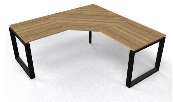 Bureauopstelling CAD combinatie model Ring hoekbureau 200x240cm in hoogte verstelbaar (1)