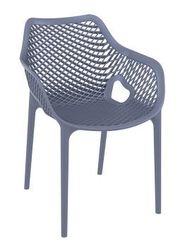 Terras stoel Air XL dark grey van Siesta, voordelig en goed zitcomfort (1)