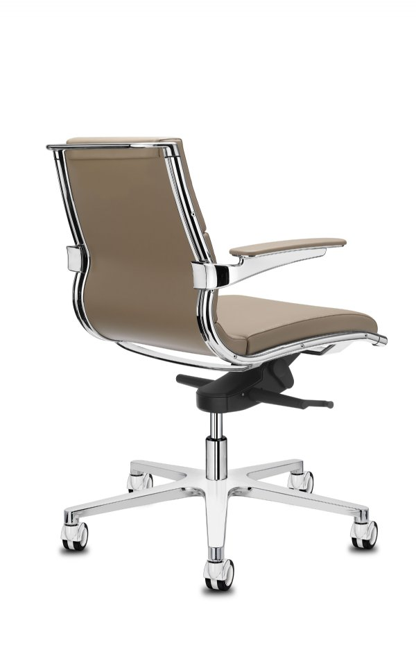 Manager bureaustoel Sit-it classic medium back in chroom / Italiaans top design en voordelig geprijsd (1)